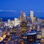 skyline of King Street West, Toronto Canada